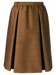 Bottega Veneta pleated skirt - Brown