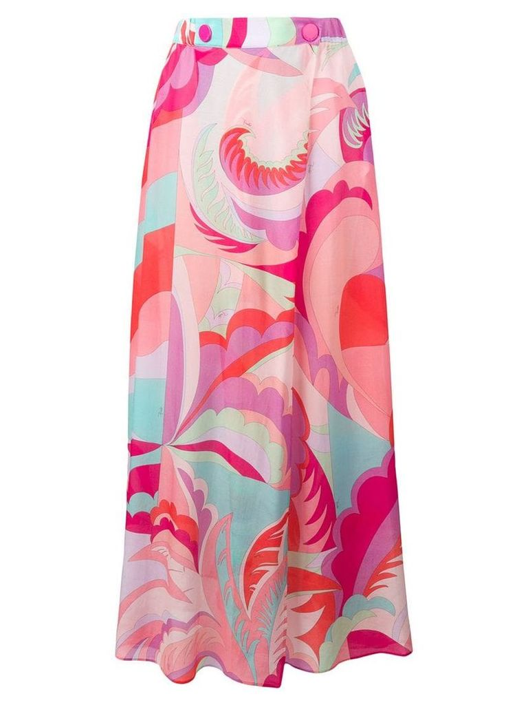 Emilio Pucci Acapulco Print Maxi Skirt - Pink