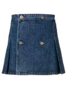 Matthew Adams Dolan pleated denim mini skirt - Blue