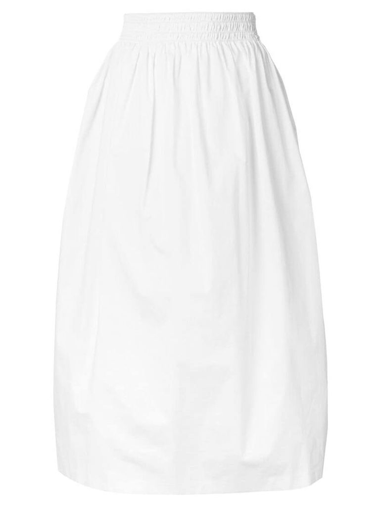 Fabiana Filippi high-waisted flared skirt - White