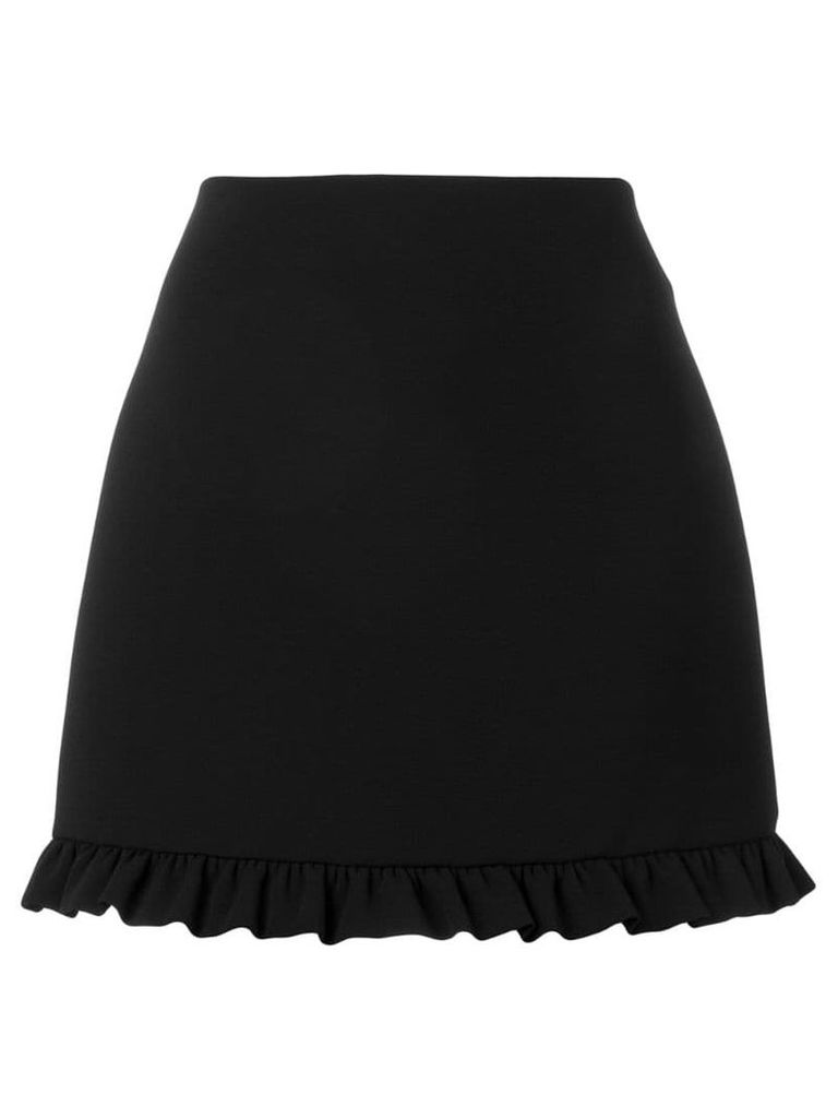 Miu Miu ruffle trim skirt - Black