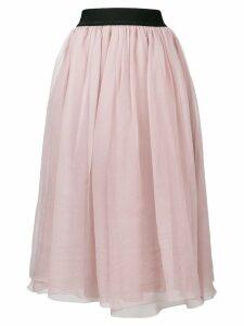 Luisa Cerano high-waist midi skirt - Pink