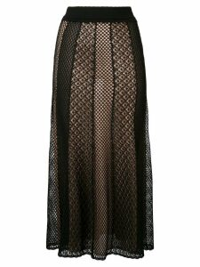 Alexander McQueen knitted draped skirt - Black
