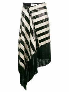 Marques'Almeida striped sequin skirt - Black