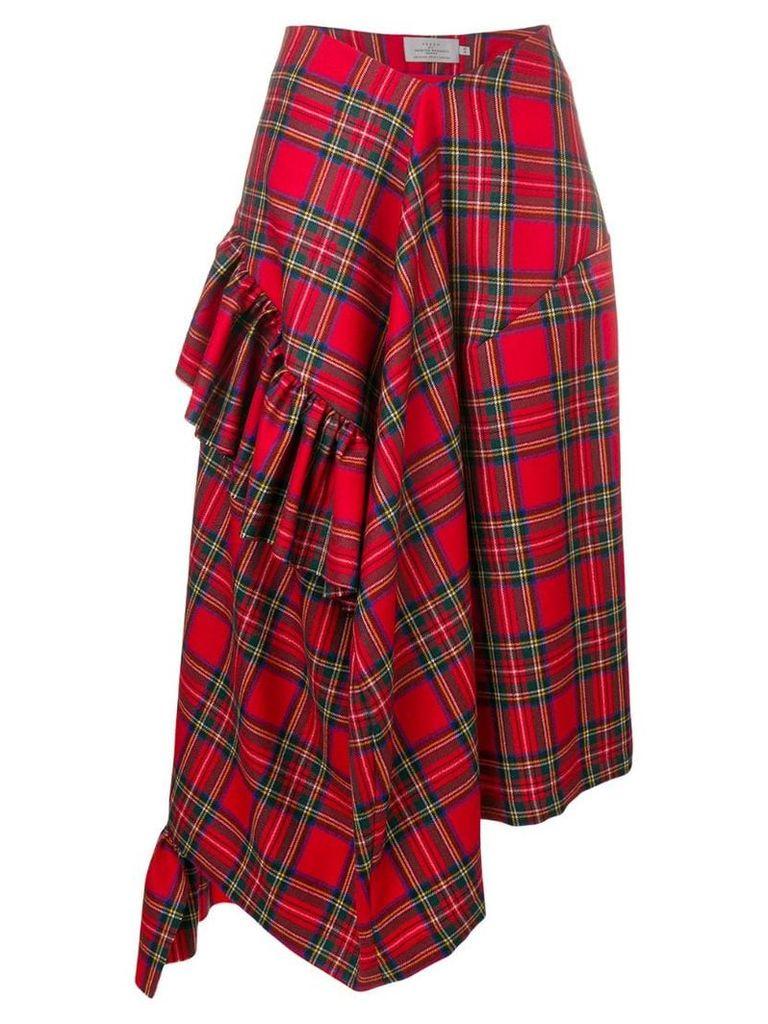 Preen By Thornton Bregazzi Morgan tartan asymmetric skirt -
