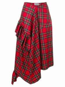 Preen By Thornton Bregazzi Morgan tartan asymmetric skirt -