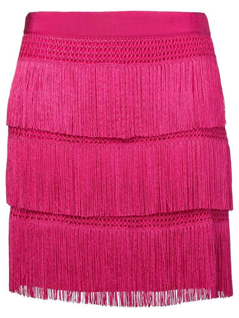 Alberta Ferretti flapper fringe skirt - Pink
