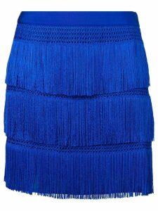 Alberta Ferretti flapper fringe skirt - Blue