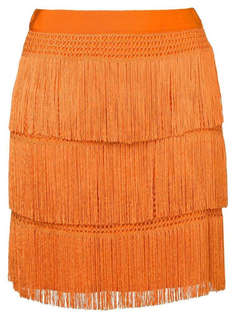 Alberta Ferretti flapper fringe skirt - Orange