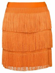 Alberta Ferretti flapper fringe skirt - Orange