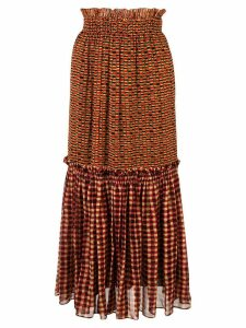 Proenza Schouler Crepe Chiffon Tiered Skirt - Yellow
