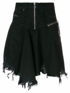 Diesel frayed skater skirt - Black