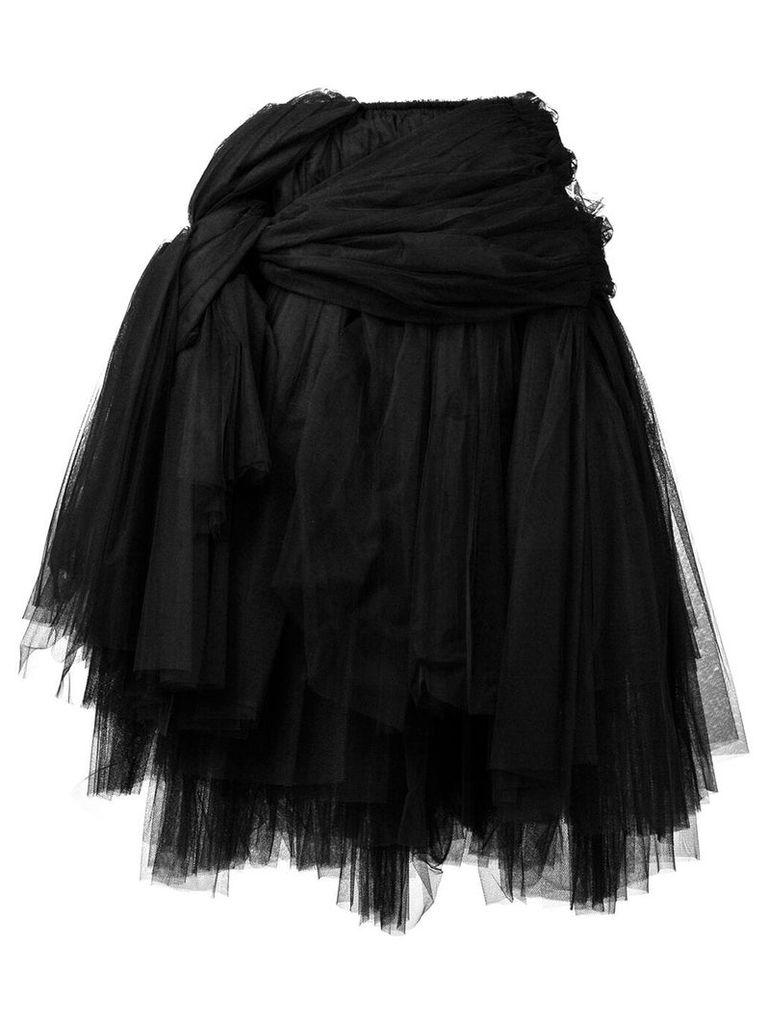 Comme Des Garçons tulle midi skirt - Black