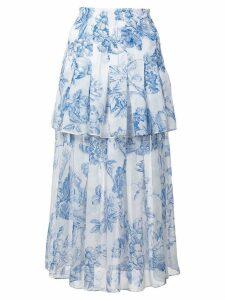 Oscar de la Renta floral print skirt - White