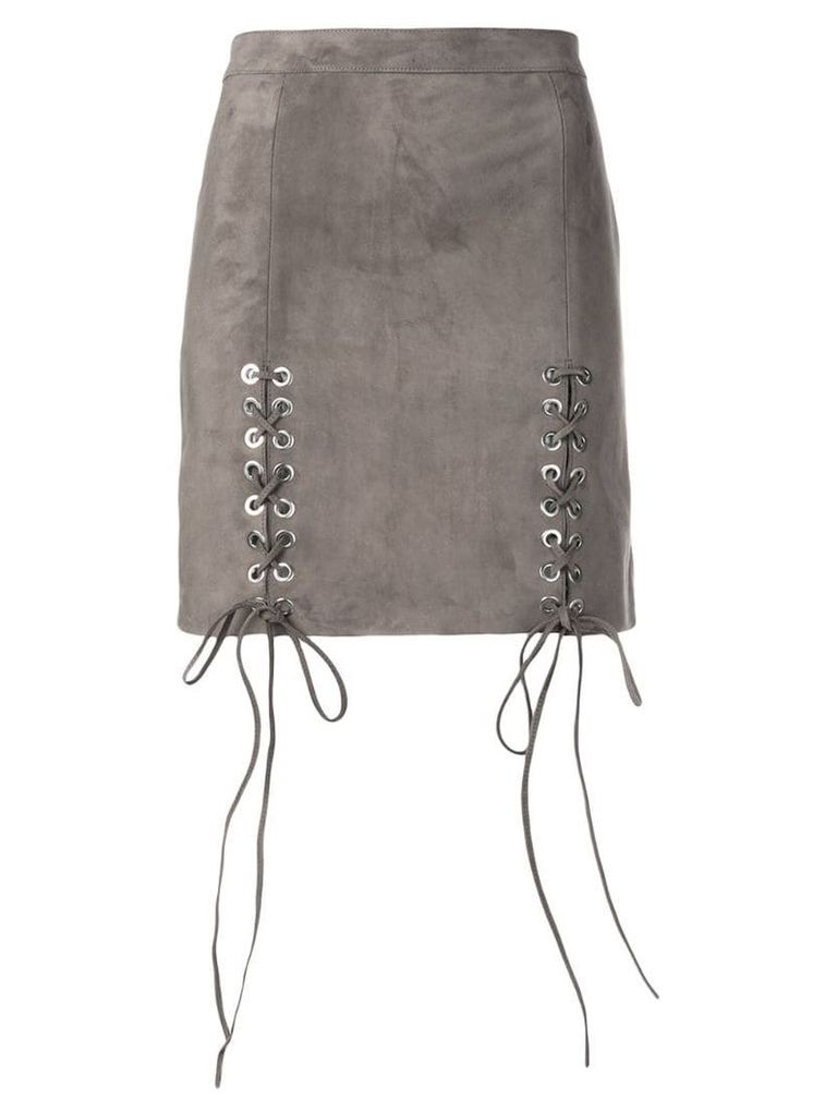 Manokhi lace-up detail skirt - Grey