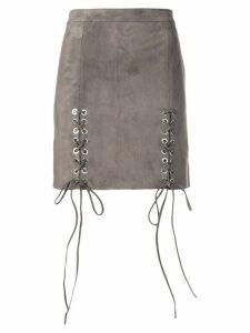 Manokhi lace-up detail skirt - Grey