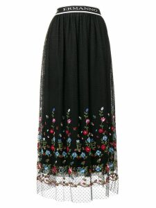 Ermanno Ermanno floral embroidered skirt - Black