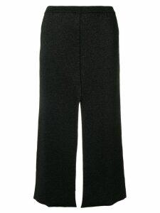 Lédition slit midi skirt - Black