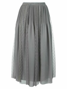 Red Valentino pleat and polka dot panel skirt - Grey