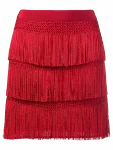 Alberta Ferretti fringe skirt - Red