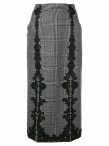 Jonathan Simkhai lace trim Glen check skirt - Grey