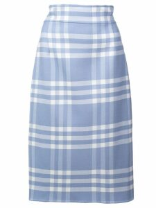 Oscar de la Renta checked pencil skirt - Black