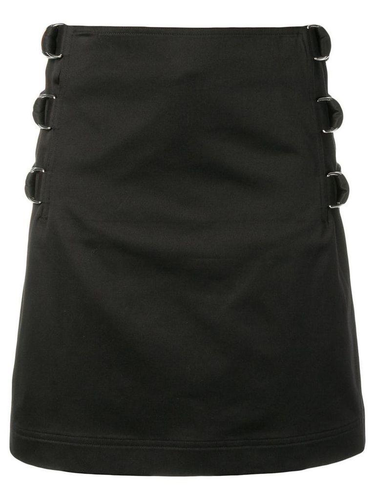 Helmut Lang buckle straight skirt - Black