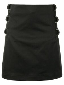 Helmut Lang buckle straight skirt - Black