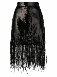 MSGM sequin fringed skirt - Black