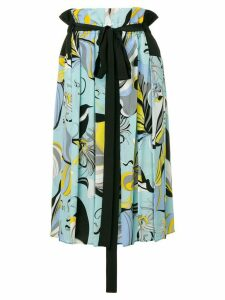 Emilio Pucci Frida Print Pleated Skirt - Blue