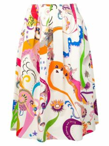 Etro multi-print midi skirt - White