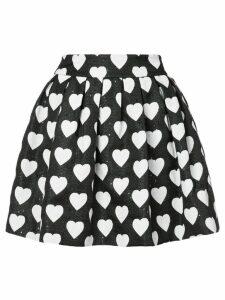 Alice+Olivia hearts print pleated skirt - Black