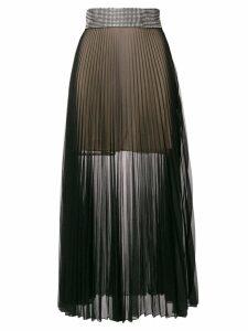 Christopher Kane crystal mesh pleated skirt - Black
