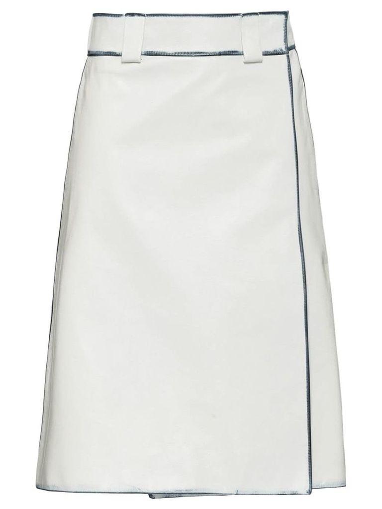 Prada Leather skirt - White