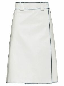 Prada Leather skirt - White