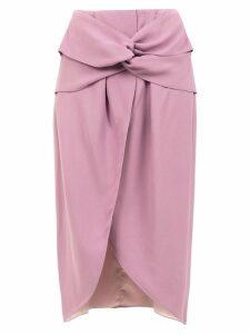 Framed Teshima midi skirt - Purple