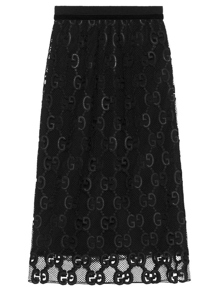 Gucci GG macramé skirt - Black