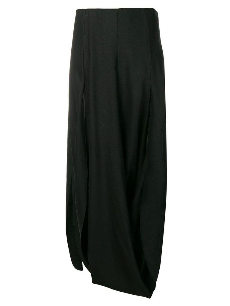 Jacquemus Nahil draped skirt - Black