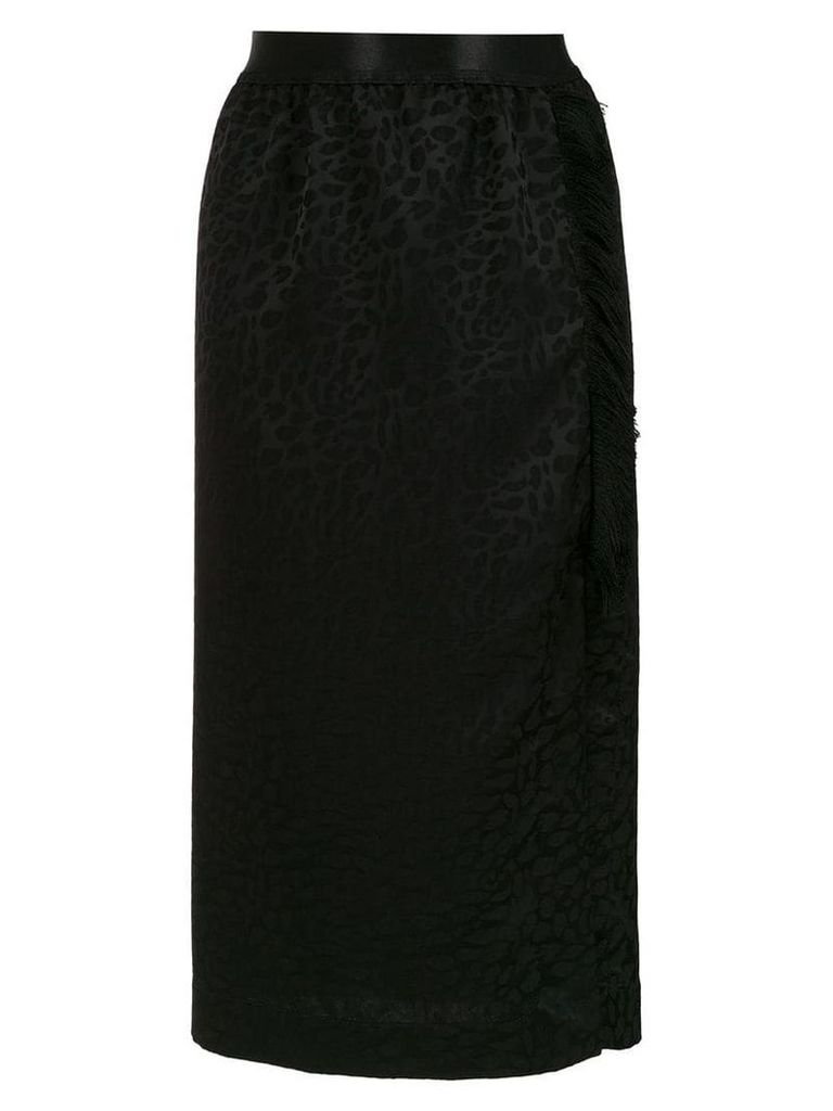 À La Garçonne fringed midi skirt - Black