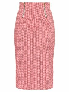 Versace Houndstooth pencil skirt - Red