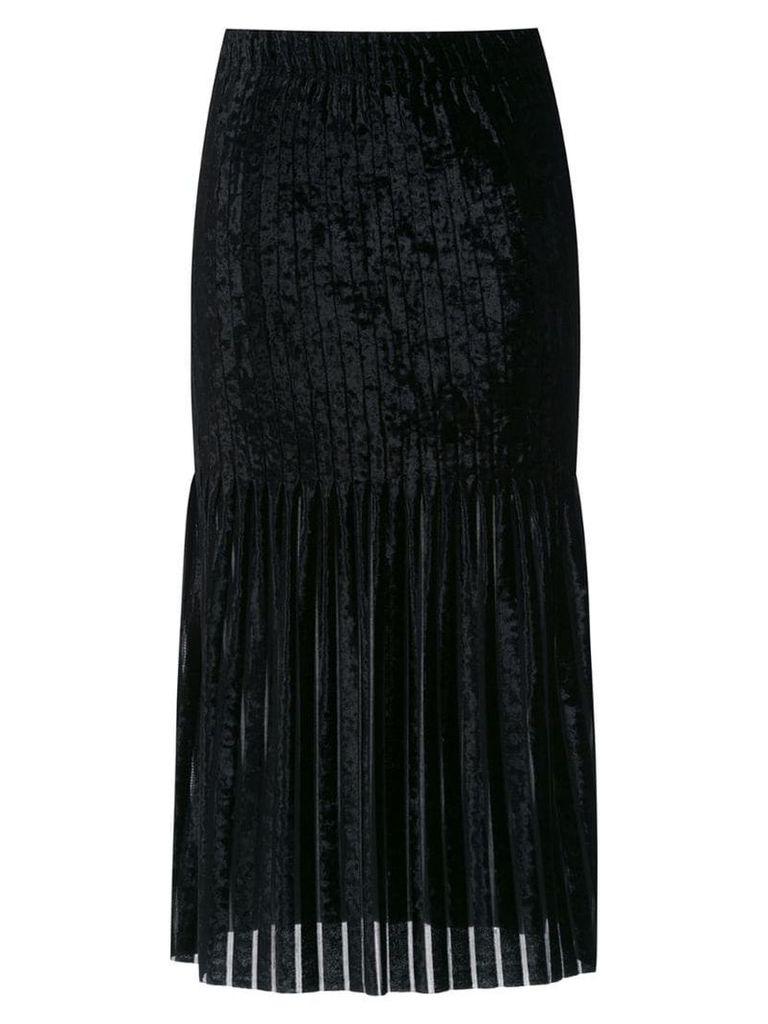 À La Garçonne striped velvet skirt - Black