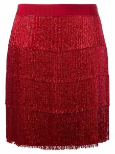 Alberta Ferretti beaded layered skirt