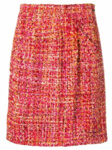 Styland tweed short skirt - Pink