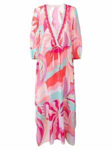 Emilio Pucci Acapulco Print Long Beach Dress - Pink