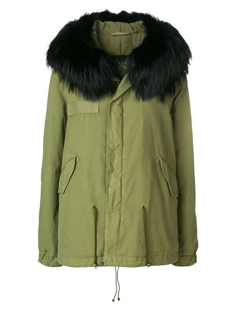 Mr & Mrs Italy hooded fur trim parka - Green