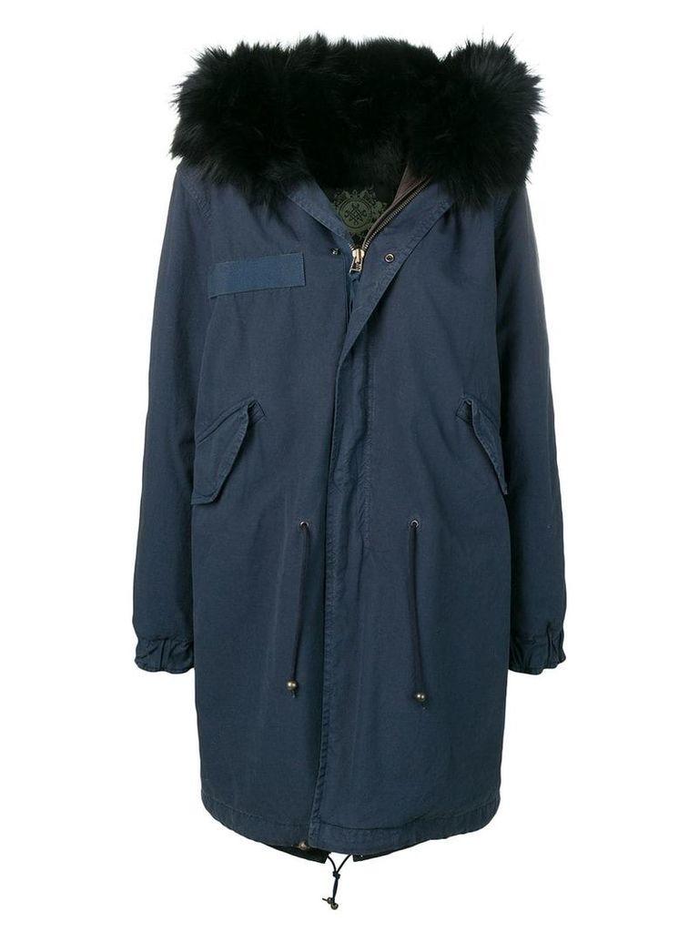 Mr & Mrs Italy fur-lined parka - Blue