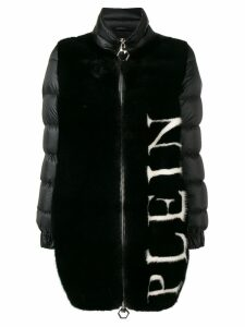 Philipp Plein logo padded coat - Black