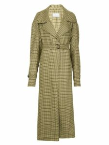 Strateas Carlucci Meta check trench coat - Green