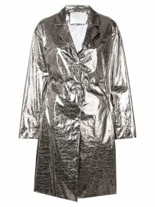 Fabiana Filippi metallic trench coat - Silver