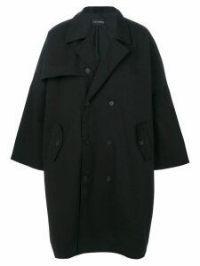 Yuiki Shimoji oversized trench coat - Black